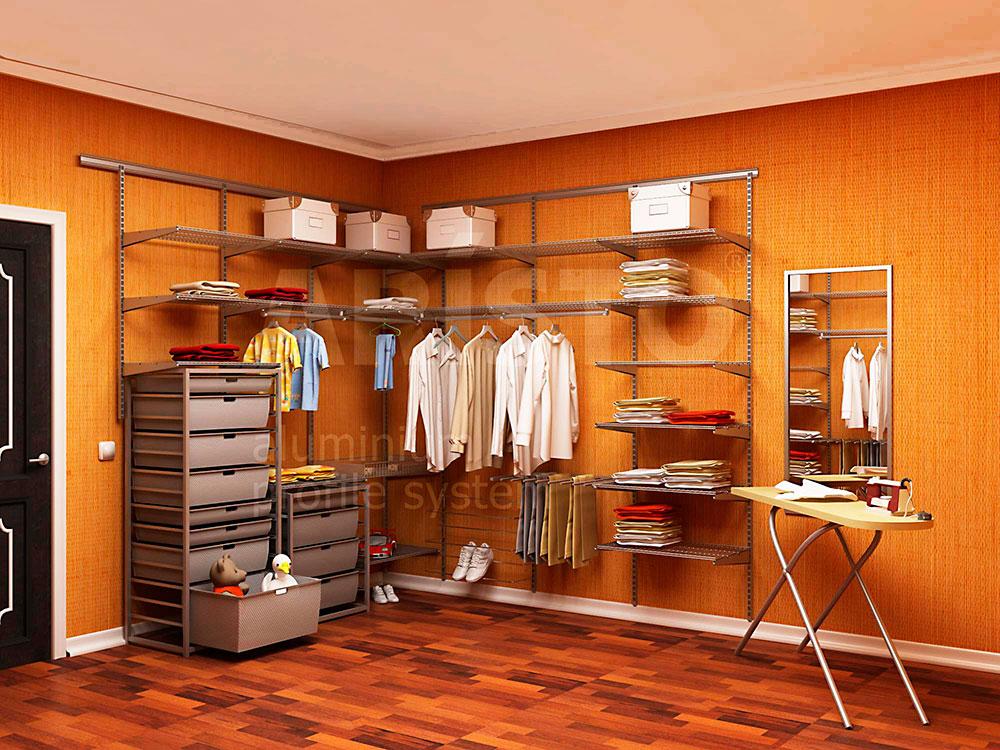 Гардеробная комната с зоной глажки, профиль ARISTO