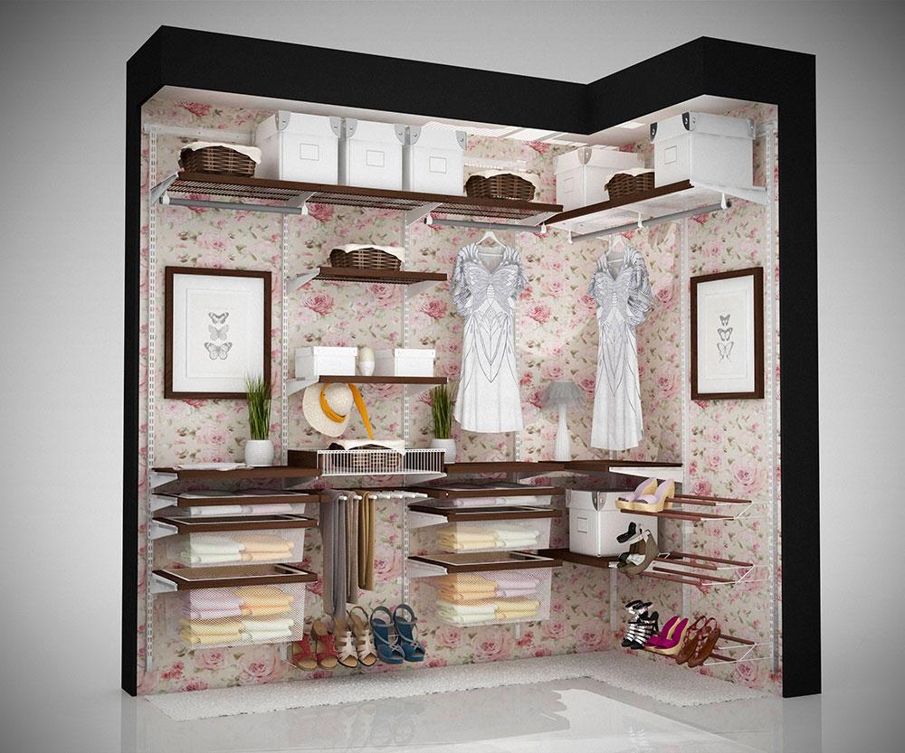 Пример заполнения гардеробной, профиль ARISTO
