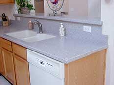 Стеновая панель в зоне мытья и посуды